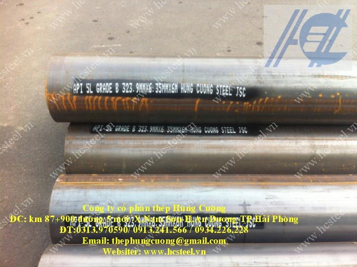 ống thép hàn cao tần 323.9 x 6.35mm x 6m